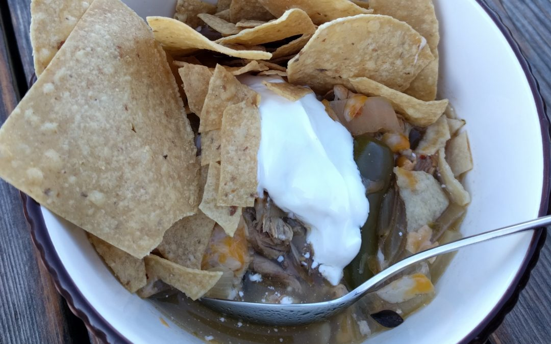 rabbit tortilla soup harvested from garden