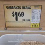 garbanzo beans bin