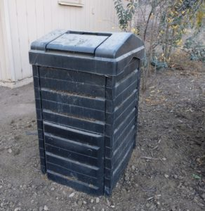 black bin for composting
