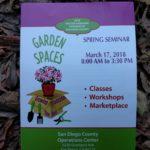 Master Gardener Spring Seminar 2018 san diego county