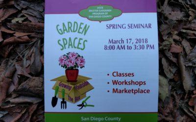 Master Gardener Spring Seminar, San Diego