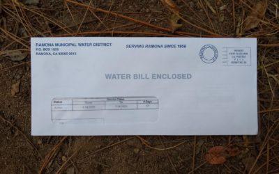 Lowering a food garden's water bill