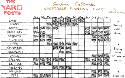 Vegetable planting chart for Southern California